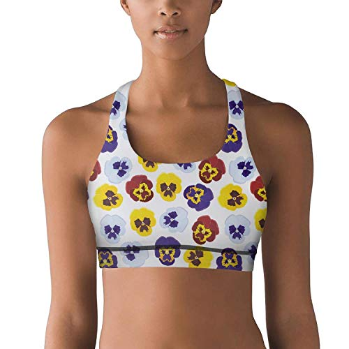 7c549e7bae019 juiertj rt Stretch Pansy Flower Petals Workout Gym Yoga Bra for Women Girls
