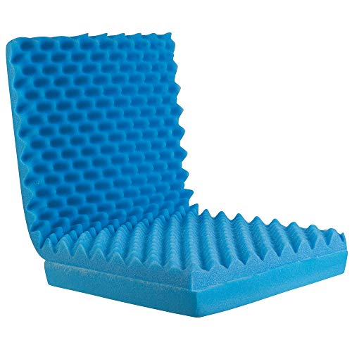 Egg Crate Sculpted Foam Seat Cushion with Full Back, Blue (Best Mattress Brand For Obese)