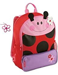 Stephen Joseph Girls Sidekick Ladybug Backpack with Zipper Pull Charm