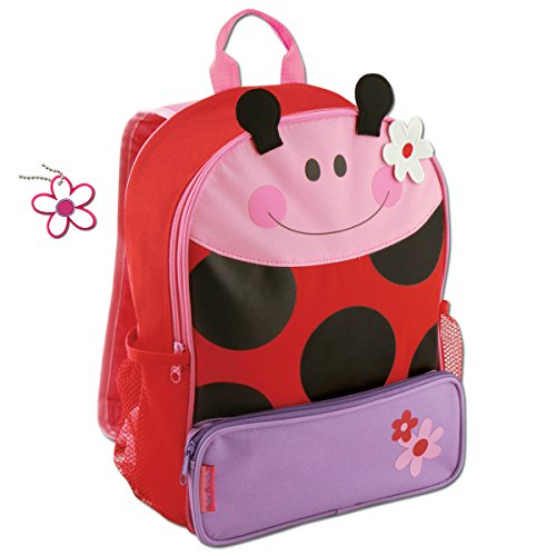 Stephen Joseph Girls Sidekick Ladybug Backpack with Zipper Pull Charm
