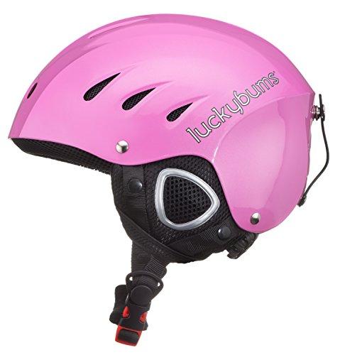 Lucky Bums Snow Sport Helmet with Fleece Liner, Pink, Medium