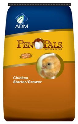 ADM ANIMAL NUTRITION Pen Pals Chicken Starter Grower, Non-Medicated, Crumble, 50-Lbs. 70009AAA44