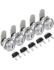 5 Pack Cam Lock Kohree 16mm Cabinet Locks Secure Belangrijke bestanden en laden met 10 sleutels voor brievenbus, kasten, kasten, kast, gereedschapskist, kastsloten, deurslot, brievenbus Lock