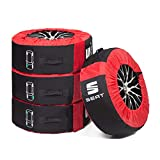 Seat 000071770C Tyre Bag Complete Wheels (up to 18 Inches) Protective Bag Tyre Wheels Storage Black/Red