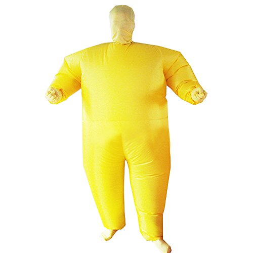 [Ehomelife's Costume Adult Inflatable Body Suit Costume (Yellow)] (Yellow Morphsuit)