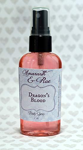 Dragon's Blood Body Spray by Amaranth & Rue Handmade