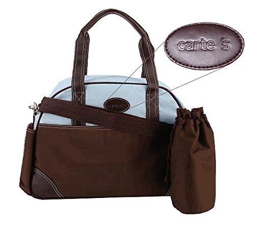 Carter's CA1441 Ultimate Diaper Bag - Brown/Blue for Boys ()