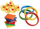 30 Piece Carnival Games Set- Duck Pond Floaters, Rings, and Bean Bags