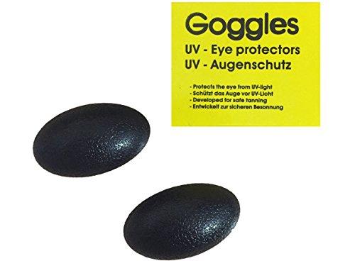Goggles Solariumbrille Schutzbrille UV Brille Solariumschutzbrille schwarz - By Beauty & Legwear Store