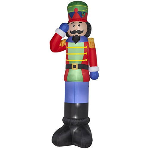 christmas inflatable colossal 20 ft lighted nutcracker christmas inflatable giant 16 nutcracker outdoor yard decoration by gemmy - Christmas Soldier Decorations