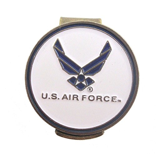 - U.S. Air Force (USAF) Golf Hat Clip with Double-Sided Ball Marker