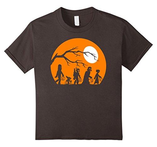 Kids Star Wars Trick Or Treat Halloween Silhouette T-Shirt 8 (Asphalt 8 Halloween)