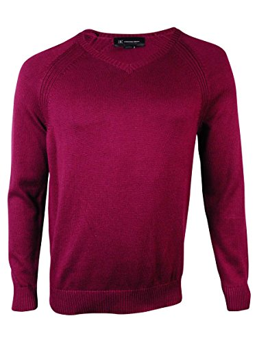 inc-maroon-mens-large-v-neck-pullover-knit-elite-sweater-red-l