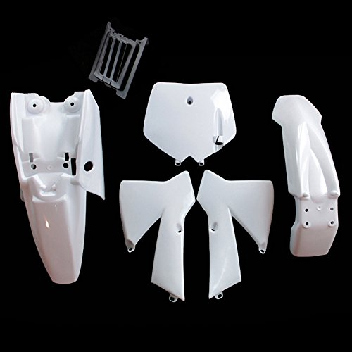 TC-Motor White Plastic Body Work Fender Fairing Kit For KTM50 MTK50 MT50 KTM 50cc Dirt Bike Mini Senior Junior Adventure SX SR JR (Kit Ktm Mini)
