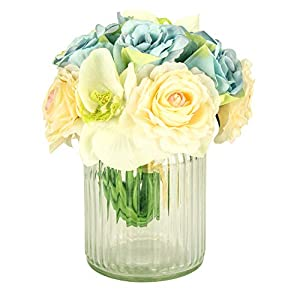 Fresh home Artificial Flowers with vase Artificial Flowers in vase Artificial Peony Flowers 100