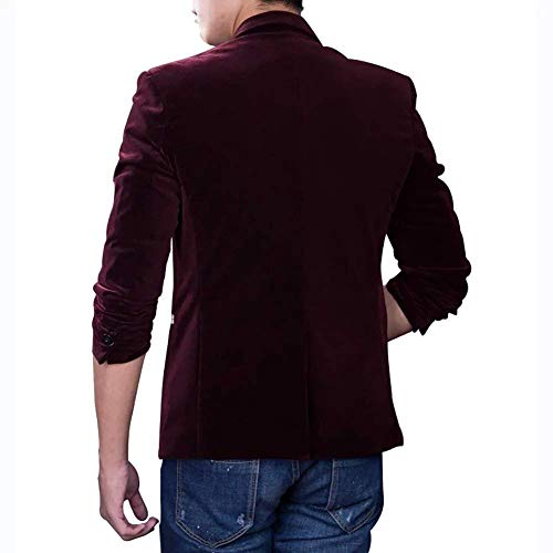 Automne Mode Casual Manches Essentiel Hommes Winered Vestes Fit Knop Revers Printemps Costume Business Slim Longues 1 Blazer Loisirs Z7wUf