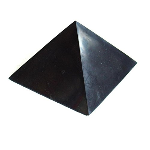 Polished Shungite Power Pyramid from Russia - 5 cm (2inch) approximately
