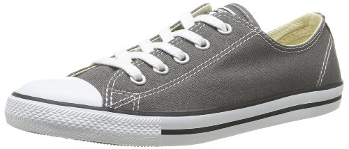 Converse Womens Chuck Taylor All Star Dainty Ox Sneaker Charcoal Size 6 (Converse Ox Grey)