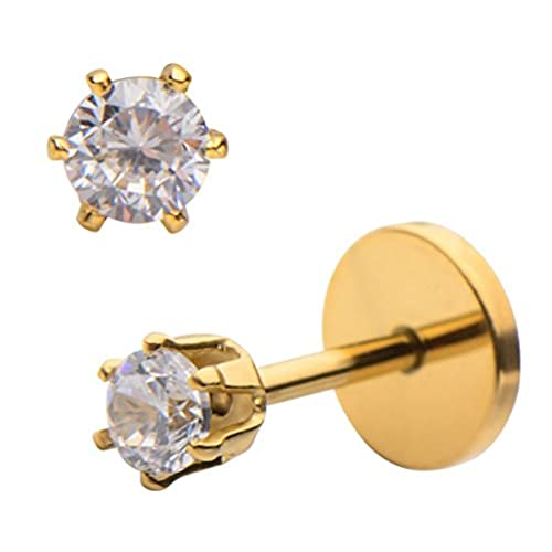 platinum jewelry earrings gold edwardian tiny flat stud diamond pin