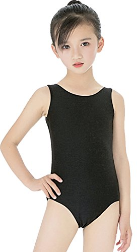 Speerise Little Girls Toddler Spandex Ballet Dance Tank Leotard (Size 2-16), Black, 8-10