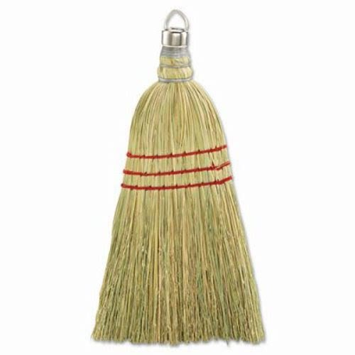 Unisan UNS 951WC 10 Inch Whisk Broom with Metal Cap with Ring and Corn Bristles - Case of 12 by Unisan