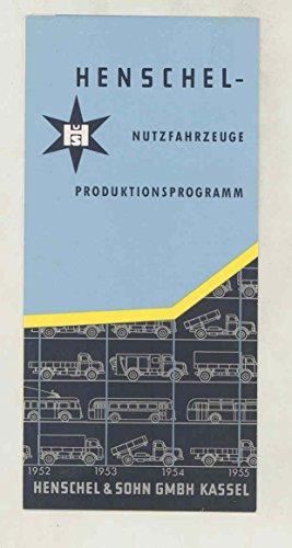1956 Henschel Truck Transit Trolley Bus Small Brochure German