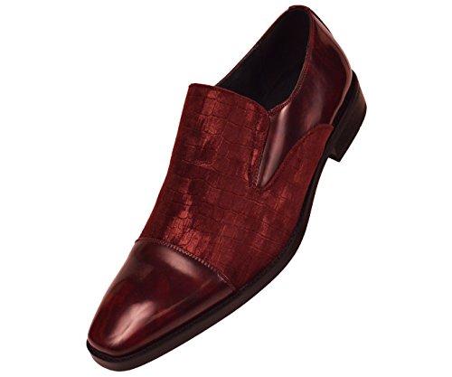 Amali The Original Mens Classic Smooth and Crocodile Embossed Velvet Cap Toe Slip On Dress Shoe Style Avondale