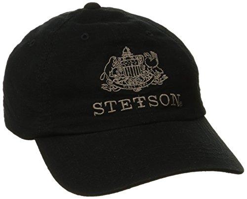 Stetson Men's Linen Unstructured Cap, Black, ()