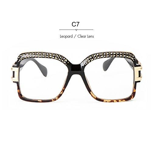 Platz Retro Stirn Sonnenbrille Kristall Diseñador Frauen KLXEB C7 Sonnenbrille C5 4txYq6ng