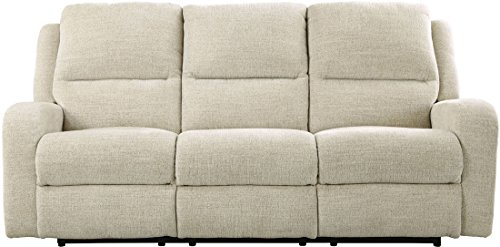 "Ashley Krismen Collection 7810315 82"" Power Reclining Sofa with Adjustable Headrest Chenille Upholstery Track Arms and USB Charging Port in"