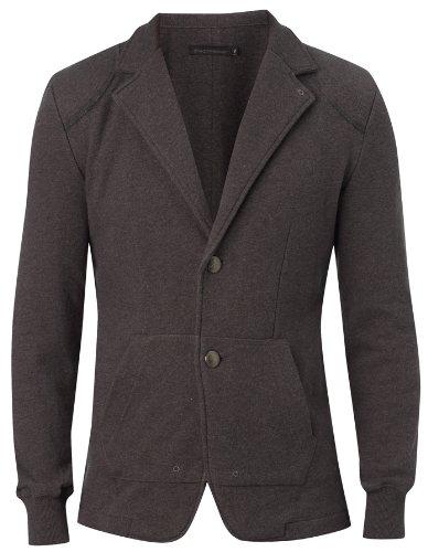 Para hombre diseño elegante de la Polinesia francesa Terry de tela Jersey duradero el sudor-camiseta de manga corta chaqueta Color Negro Gris oscuro: ...