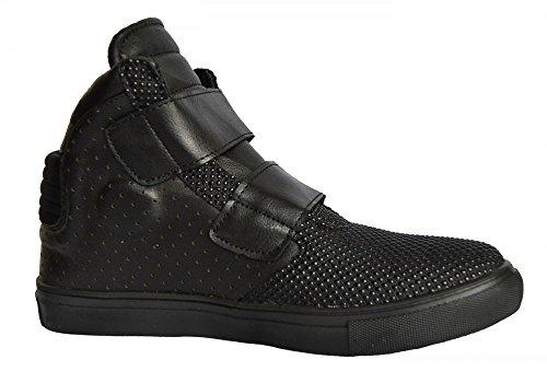 Tamboga Schwarz Damen-Women's Sneaker High mit Klettverschluss 333 GRS