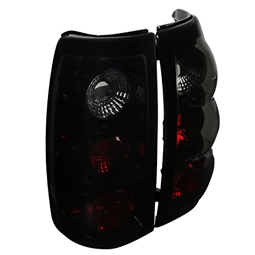 Spec-D Tuning LT-SIV03BB-TM Chevy Silverado 1500 2500 3500 Glossy Black Smoked Lens Altezza Tail Lights