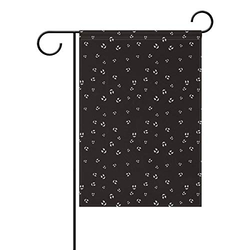 Veta Megica Cute Face Halloween Pattern Seamless Color Home Garden Flags,Sided Garden Decorative Flag,Beautiful Party Flag, Brightly Colored, Creatively Designed House Flag ()