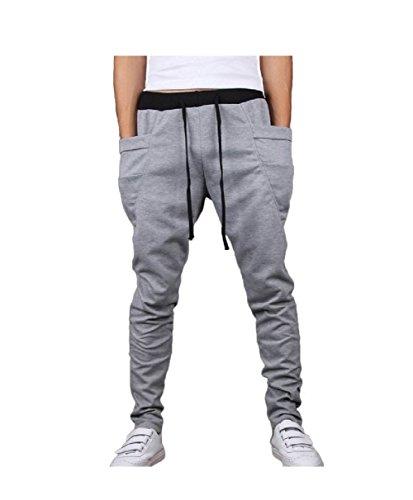 MO GOOD Men's Casual Jogging Harem Pants joggers New Arrival (L(US=S), - Styles Mens New