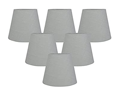 Meriville Chandelier Lamp Shades, 4-inch by 6-inch by 5-inch, Clip-on