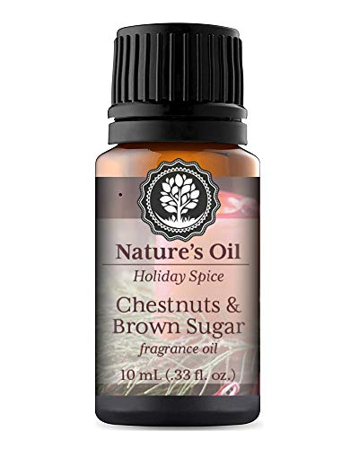 Chestnuts & Brown Sugar Fragrance Oil 10ml for Holiday Diffuser Oils, Making Soap, Candles, Lotion, Home Scents, Linen Spray and Lotion