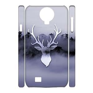 3D misty deer Samsung Galaxy S4 Case, Cute Cheap Case Samsung Galaxy S4 Case For Girls Tyquin {White}