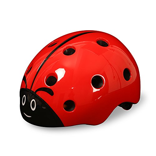 Bingggooo Children's Multi-Sport Ladybug Helmet For Girls/Boys Skiing Snowboarding Scootering Cycling