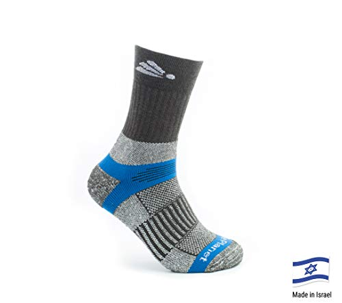 Native Planet Aquarius Outdoor Hiking Crew Socks, Mild - Hot Weather, Micro-Channel Wicking, Unisex, Small