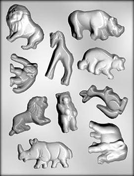 Chocolate Zoo animales juego de molde para hacer Chocolate, decoración de tartas y