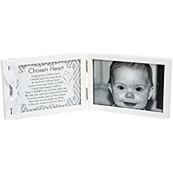 Grandparent Gift Adoption Chosen Heart Poem Double 4 x 6 White Picture Frame