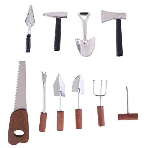 (Brosco Dollhouse Miniature Gardening Tool Set Weeding Planting Tool Garden Accessor)