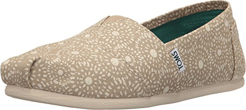 TOMS Women's Seasonal Classics Oxford Tan Shibori Dots Loafer