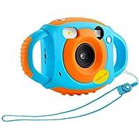 """Macchina Fotografica Digitale per Bambini, Mini fotocamera autoscatto HD da 1.77"""", due maniglie e cordino confortevoli, splendido panorama notturno, grande regalo di compleanno per ragazze ragazzi"""
