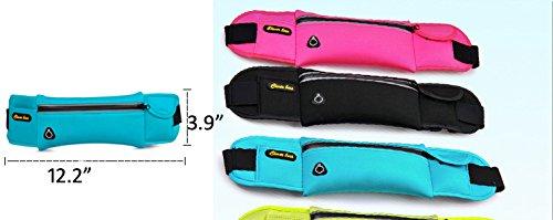 dushow Running Taille Pack/Kleine Taille Taschen/Running Tasche Phone Handy Gürtel/4Farben blau gw8vOK2