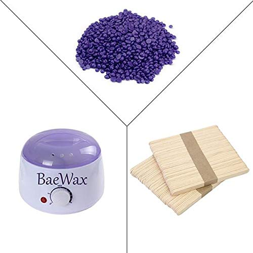 BaeWax Wax Warmer Hair Removal Kit with Hard Wax Beans and Wax Applicator Sticks