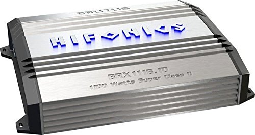 Hifonics BRX1116.1D Brutus Mono Super D-Class Subwoofer Amplifier, 1100-Watt - 1995 Honda Accord Ground