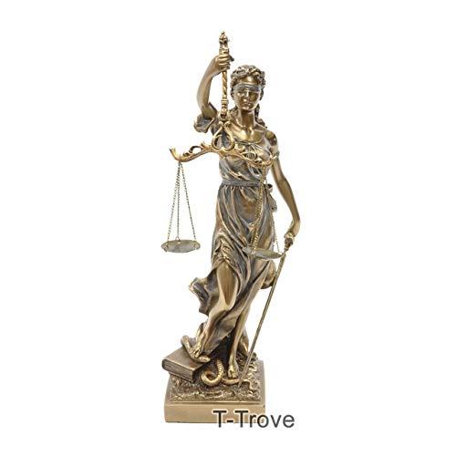 T-Trove Cold Cast Bronze Lady Justice La Justitia Statue ()