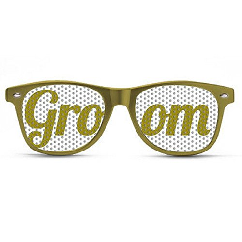 Best Selling Groomsman Party Glasses on Amazon! Groom Gold Sunglasses. Great item to give to your groomsman party ! Custom made glasses.